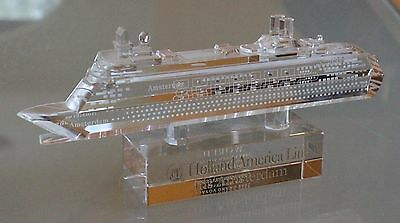 2008 Grand Voyage Holland America Line ms Amsterdam Crystal Souvenir 6220404