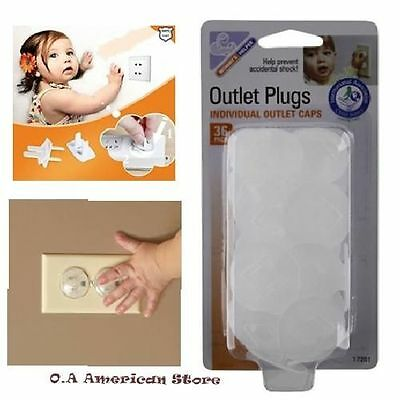 Safety Electrical Outlet Plugs Caps 36 Home Baby Proofing Products Protector New