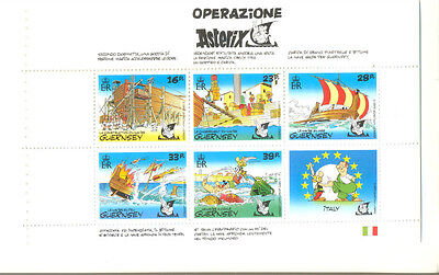 Guernsey-Operation Asterix mnh sheet from booklet- Cartoons-Animation