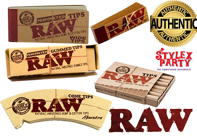RAW Rolling Paper Filter Tips Chlorine Free Roach Book Selection Pre Rolled Book