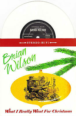 "Brian Wilson - What I Really Want For Christmas - 7"" EU White Vinyl 45 - New"