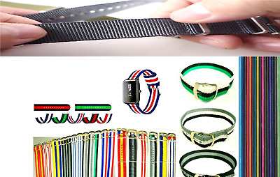 Watch Strap Band Nylon  New 10mm, 12mm and 14mm width