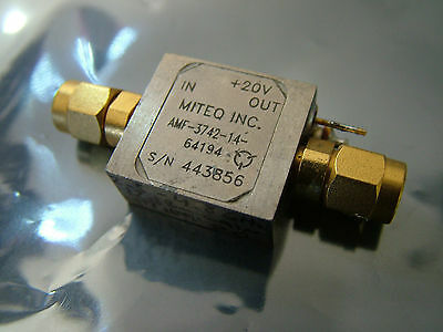 Low noise amplifier 2.5GHz - 4.8GHz MITEQ AMF-3742-14-64194