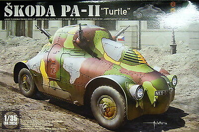 Armored car Skoda PA-iiTurtle , 1:35, TOM, Plastic model kit, Neu