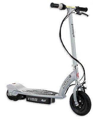 Nearly New - Razor E100 Electric Scooter Rechargeable Battery- Silver
