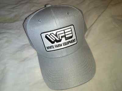 White Farm Equipment Gray Hat