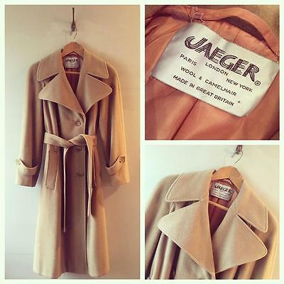 True Vintage 1960s/70s Jaeger Camel Wool Coat UK12 14