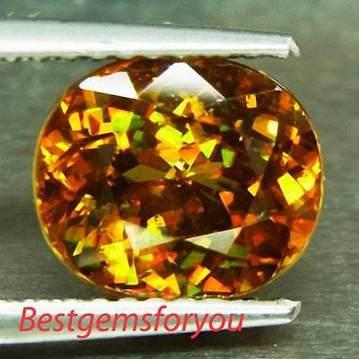 3.12Ct Dazzling Flash Red Yellow Natural Sphene