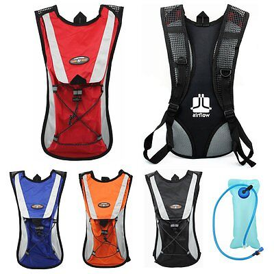 On Sale!Water Bladder Bag Backpack Hydration Packs Pack Hiking Camping 2L AR