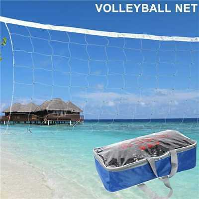32 X 3 FT Volleyball Net With Steel Cable Rope Official Size Outdoor Indoor -BM