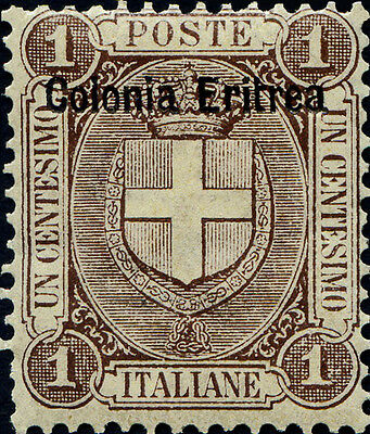 Eritrea, (Italian Colonies) SG12, 1c. brown, lightly mounted mint