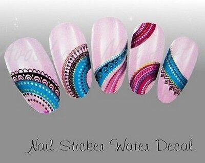 water decal stickers ongles HD nail art manucure vernis gel série H