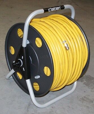 Metal hose reel for window cleaning waterfed pole with 8mm Microbore hose
