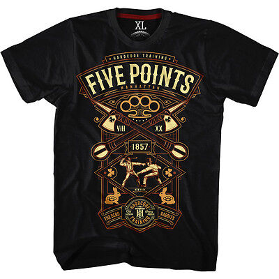 T-shirt Hardcore Training Five Points MMA Fitness Kampfsport Boxen Training