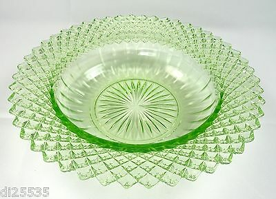 Hocking Glass Cereal Bowl Miss America Green Depression Glass