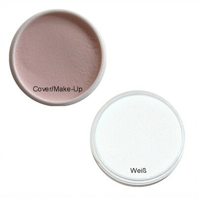 2x 10g Acryl Pulver Acryl Puder Weiß French / Cover Make-Up