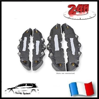 Cache Etrier Frein Type Brembo 3D Carbone Universel Tuning Audi A4 B5, B6, B7,b8