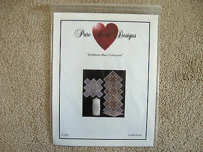 Pure Heart Designs Earthtone Hues Collection Hardanger Runner Doily Beth Evans