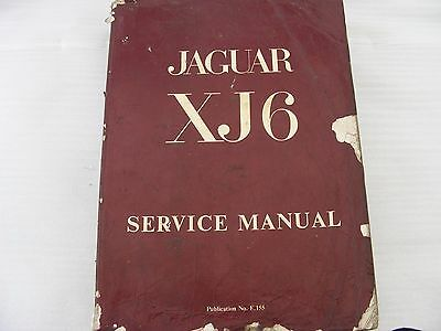 Jaguar XJ6 Series 1 Service Manual. Soft Cover.