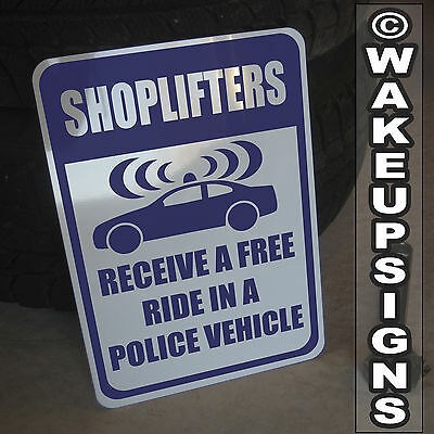 No Shoplifting Sign 10 By 14 Aluminum Shoplifters Prosecuted Video Surveillance