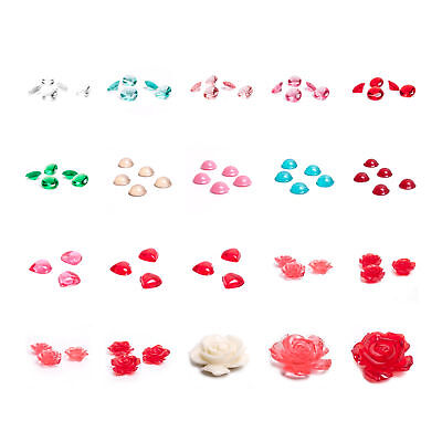 Rainbow Dust Fully Edible Jelly Jewels Pearls Hearts Roses for Decorating Cakes