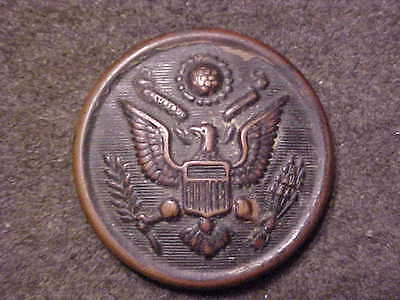 Big Ww2 Us Army Bronze 1-1/8 Coat Button Marked The Art Metal Works Newark N.j.