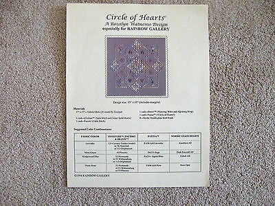 Circle of Hearts Hardanger Pattern Rosalyn Watnemo Rainbow Gallery