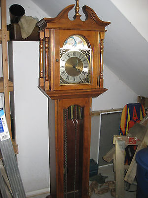 GRANDFATHER CLOCK Emperor black cherry,  missing 1 part in pendulum assembly