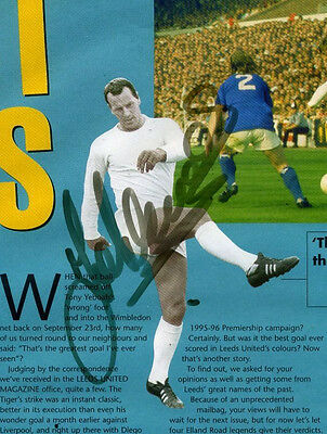 John Charles Hand Signed Picture - Leeds United & Wales.