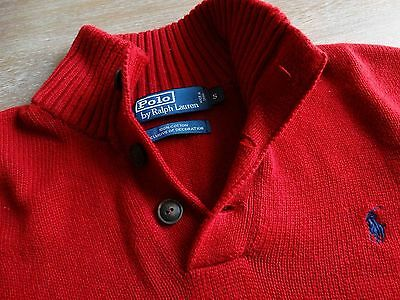 Ralph Lauren Polo The Mens 100% Cotton 3 Button Polo Sweater Size: Small