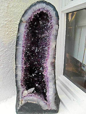 Large Amethyst Geode Madonna From Brazil Stunning 44X14X9Cms 11.8 Kilos