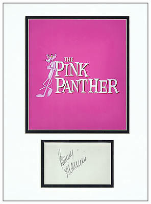 Henry Mancini Autograph Display - The Pink Panther - AFTAL  UACC RD