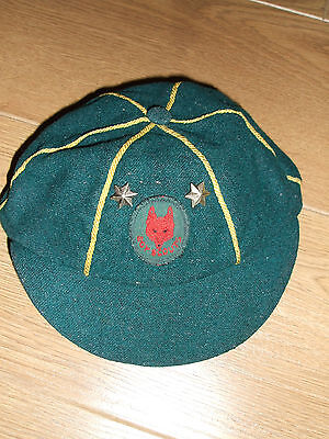 VINTAGE 1950/60s UK WOLF CUB CAP BOY SCOUTS ASSOCIATION UMBRO 2 eyes open stars
