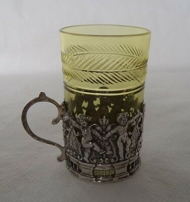 Antique 1908 Dancing Cherubs Solid / Sterling Silver Liqueur Cup