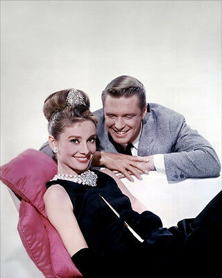 George Peppard & Audrey Hepburn UNSIGNED photo - H5188 - Breakfast at Tiffany's