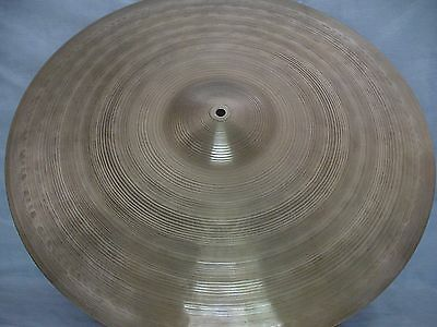 "VINTAGE Old 1950s 22"" KINGSTON Jazz RIDE CRASH CYMBAL *Nr MINT 2156g **WORLDSHIP"