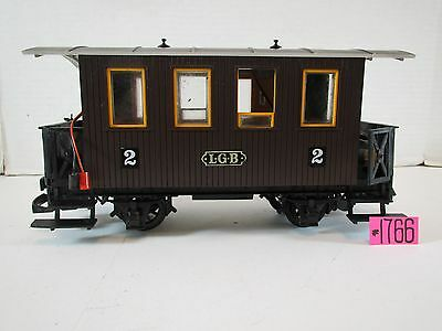 Lgb G Scale Passenger Car #2 Made In Western Germany With The Figure No Bax.