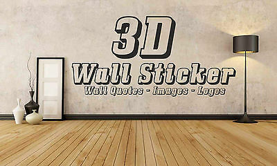 3D Personalised Wall Sticker Custom Vinyl Decal Design your Own Quote Wall Art
