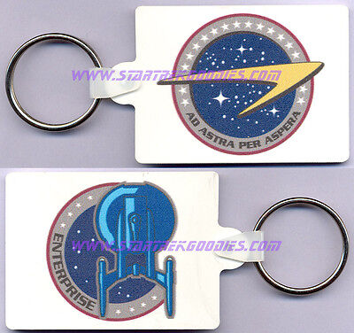 MINT RARE KEYRING from Star Trek: Enterprise with NX-01 and STARFLEET Logo's!