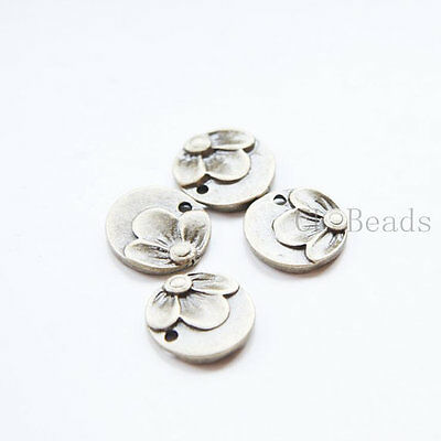 30pcs Antique Brass Tone Base Metal Textured Tags-Round 17x14mm 9331Y-C-371