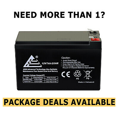 ExpertBattery 12V 7AH Battery Rechargeable Sealed Lead Acid F1 Terminals