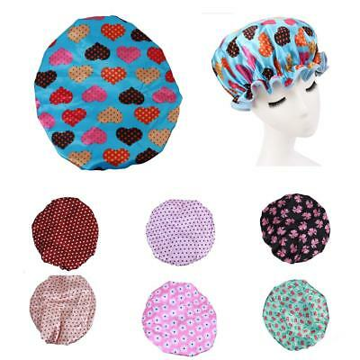Reusable Waterproof Women Girls Large Bath Shower Cap Bathing Hat Caps Long Hair