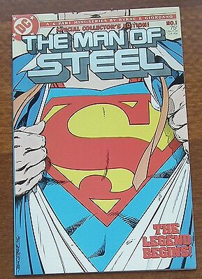 Superman #1 1986 The Man of Steel NM 9.2 to 9.6, DC Comics,  Byrne & Giordano.