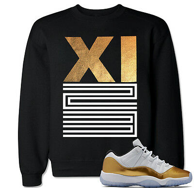 d14f8edfb56 XI 23 Gold Sweater to match with Jordan 11 Retro 11 Gold Closing Ceremony  Shoes
