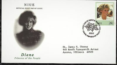 Niue First Day Cover 1998 In Memory Of Princess Diana