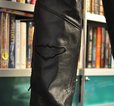 Pre owned Harley Davidson  Chaps Size: US Small Motorcycle riding leather tour