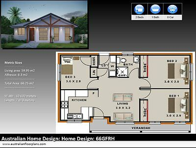 Small house Plans / Cottege / Granny Flat /3 bedroom/Construction Plans For Sale