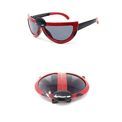 New 2 Red Childrens Kids Sunglasses Girls Boys Ladybug Cute Transforming Glasses
