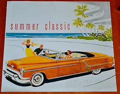 1952 or 1953 OLDSMOBILE NINETY EIGHT 98 CONVERTIBLE PICTURE FROM 2004 CALENDAR