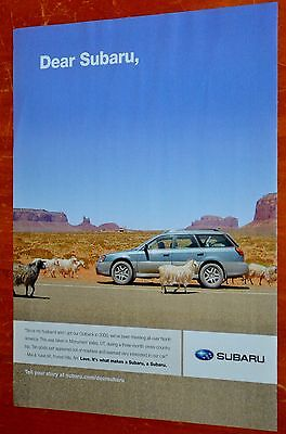2000 Subaru Outback Photographed In Monument Valley Utah - 2011 American Ad